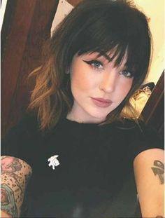 Bangs With Medium Hair, Cute Hairstyles For Medium Hair, Medium Hair Cuts, Hairstyles With Bangs, Short Hair Cuts, Medium Hair Styles, Curly Hair Styles, Trendy Hairstyles, Short Bangs