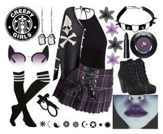 """I'm Emo Trash."" by thelovelysarah-rae ❤ liked on Polyvore"