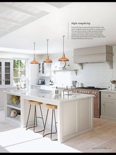 Metro tiles and putty colour kitchen