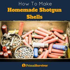 How to make Homemade Shotgun Shells for when SHTF. #emergencypreparedness #shtf #DIY #shotgunshells #primalsurvivor