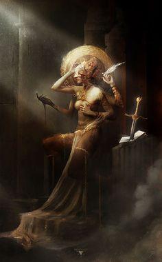 Penemue / Angel of Script by Bastien Lecouffe Deharme
