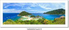 """Panorama of koh nangyuan island, suratthani, southern of thailand"" - Art Print from FreeArt.com"