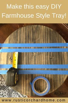 Learn how to make a Spring Farmhouse Home Decor DIY! You will love how quick and simple this Round Wooden Tray is to make! home decor to sell Create your own round wooden tray with this simple DIY!