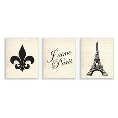 If you love Paris, you'll love the The Stupell Home Decor Collection Jaime Paris Wall Plaque - Set of 3 . The scripted French text is a lithograph. Paris Bathroom Decor, Paris Room Decor, Paris Rooms, Paris Bedroom, Paris Theme, 3 Piece Art, Triptych Wall Art, Wall Plaques, Beige
