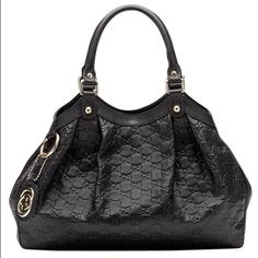 Gucci Sukey Black Leather tote purse Gucci Sukey Meduim Leather Purse  Used before great Condition  100% authentic thus The Price I have more pics can email.                                    Comes with box + dust bag.                                   Price for tradesy ️️ or Ⓜ️ercari offers accepted ) Gucci Bags Totes