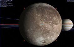 Δορυφόρος του Δία - Γανυμήδης Planets, Celestial, Astronomy