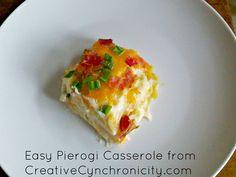 Pierogi Casserole with lasagna noodles