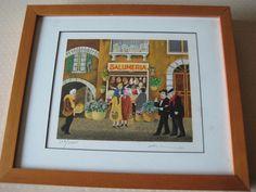 "Guy Buffet ""Salumeria"" Limited Edition Lithograph Print"