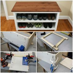 Brad at FixThisBuildThat shows you how to build this adjustable shoe storage bench using the Kreg Jig®. Makes a great Mother's Day gift! Click for FREE plans + 5 more DIY gift ideas!