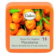CouleurTropiques,savon Galeo parfum mandarine, 100g de bonheur