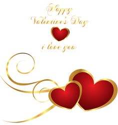 Transparent Happy Valentines Day Decor with Hearts