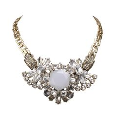 Rhinestone Bib Necklace by GemPearls - $45
