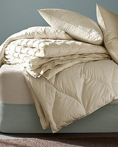 eileen fisher organic all seasons down comforter bottom with arch shaped panels - Down Blankets