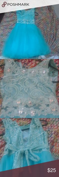 Spa kids dress Spa color blue worn once for 4 hours no stains or rips cinderella Dresses Formal
