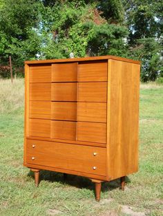 Mid Century Modern Johnson Carper Dresser Highboy Gentleman Chest Fashion Trend…
