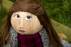 In #JacksonNH, every year there is The Return of the #Pumpkin People. This young pumpkin lady does not look too pleased at her transformation. #Halloween #fall #leafpeeping Pumpkin, Halloween, Lady, Pumpkins, Butternut Squash, Squash, Halloween Stuff, Gourd