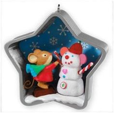 2011 Sweet Snowmouse Hallmark Event Ornament | Keepsake Ornament Club Ornaments at Hooked on Hallmark Ornaments
