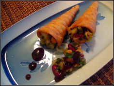 Cupcakeluv: Papari Cone Chaat/ Cone Pappadum snack