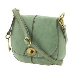 Fossil Carson Flap Crossbody Messenger Handbag ❤ liked on Polyvore featuring bags, carteras, handbags, purses, flap crossbody bag, crossbody bags, green crossbody bag, green leather bag and genuine leather bag