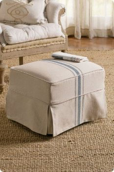 Before after ottoman slipcover beyond the screen door sh slipcovered tristan ottoman soft surroundings home ottoman coverottoman slipcoverdiy solutioingenieria Image collections