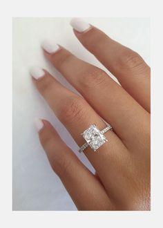 Radiant Cut Engagement Rings, Emerald Cut Engagement, Dream Engagement Rings, Engagement Ring Cuts, Big Diamond Rings, Diamond Anniversary Rings, Radiant Cut Diamond, 2 Carat, Dream Wedding