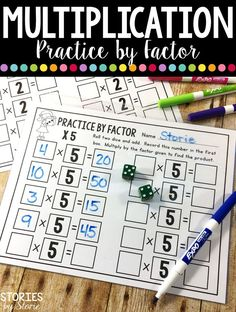 Just add dice to these pages to create a fun way to practice multiplication facts! Put the pages in sheet protectors and you can save copies, too!