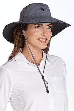 Perfect for blocking UV rays while gardening, hiking or boating, our Shapeable Sun Catcher Hat features a chin cord and a shapeable brim. Plus, it packs easy!
