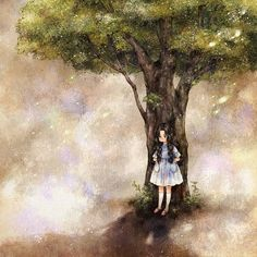#illustration #drawing #paint #girl #tree #onepiece #shadow #alone #lonely
