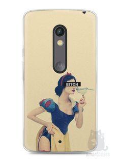 Capa Capinha Moto X Play Branca de Neve Bitch - SmartCases - Acessórios para celulares e tablets :)