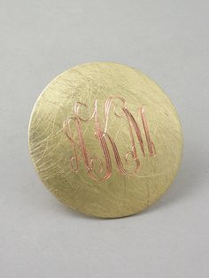 Large Brushed Monogrammed Ring ... only $20 ... great little gifts ... or a napkin holder/gift for a luncheon/dinner!!!!