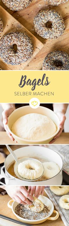 Ob mit Mohn bestreut, mit Käse überbacken oder mit Blaubeeren verfeinert - mach dir die runde Bagel-Welt, wie sie dir gefällt!