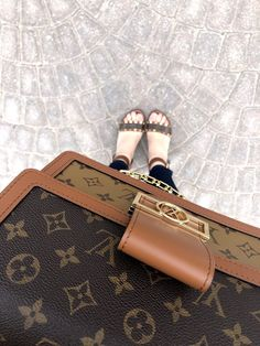 As soon as I laid my eyes on the Louis Vuitton DAUPHINE MM from the collection, I fell instantly in love. Dubbed the new 'IT' bag of the season, I was super fortunate to get my hands on this must-have luxury handbag, as soon as it was released. Luxury Handbags, Fashion Handbags, Louis Vuitton Handbags, Purses And Handbags, Calf Leather, Calves, Pouch, Dubai Life, Tote Bag