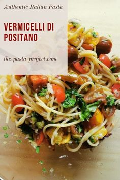Vegetarian and Vegan recipe, easy-to-make, nutritious, and delicious traditional dish from Southern Italy. This is a fresh pasta recipe that's perfect for the summer as a light meal or side dish. You only have to cook the pasta and marinate the vegetables and herbs. #italianrecipe #pastarecipe #traditionalrecipe #thepastaproject Italian Pasta Recipes Authentic, Italian Recipes, Vegan Recipes, Cooking Recipes, Lunch Snacks, Healthy Snacks, Easy Meals For Kids, Fresh Pasta, Vegan Pasta