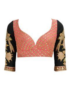 Beautiful sweetheart neckline  on Blouse for Saree and Lehenga / Ghagra; Indian Fashion @ livingday.us via @sunjayjk