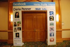 Facebook Bat Mitzvah Entrance from Setting the Mood - mazelmoments.com 12th Birthday Party Ideas, 13th Birthday Parties, 13 Birthday, Bar Mitzvah Themes, Bat Mitzvah Party, Instagram Party, Facebook Party, Art Party, Party Themes