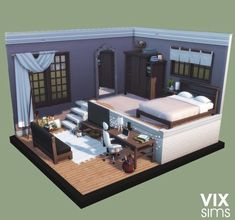 The Sims, Sims 4 House Design, Sims 4 Build, Sims 4 Houses, Room Goals, Outdoor Furniture, Outdoor Decor, Diy And Crafts, Bedroom