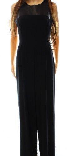 Lauren Ralph Lauren Black Women's 0P Petite Faux-Leather Jumpsuit