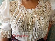 Quevistes Taller de costura: Blusa baturra de mujer