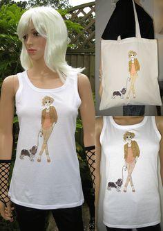 ALICE BRANDS yksinoikeudella koirarotu erityisiä yksinoikeudella kuvat ovat saatavilla laaja valikoima laadukkaita naisten Topit ja T-paitoja, ja nyt myös raahata laukkuja. Saatavilla maailmanlaajuisesti muodossa: etsy.com/uk/shop/AliceBrands alicebrands.co.uk.