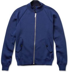 Alexander McQueenKnitted Cotton-Blend Bomber Jacket