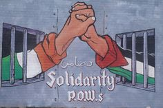 "Mural along Falls Road, Belfast: ""Solidarity P.O.W.s"""