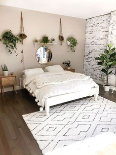 Minimalist bedroom ideas are the epitome of picture perfect home decor. If you need some change in your living space, here are 15 minimalist bedroom ideas that will inspire you to redecorate your room! Bedroom Wall Colors, Room Design Bedroom, Room Ideas Bedroom, Home Decor Bedroom, Master Bedroom, Bed Room Wall Ideas, Bed Ideas, White Bedroom, Decorating Walls In Bedroom