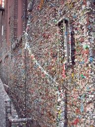 The gum wall in Seattle Washington