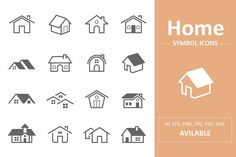 home icon Home Symbol Icons by ctrlastudio on creativemarket Business Illustration, Pencil Illustration, Creative Illustration, Business Brochure, Business Card Logo, Icon Design, Logo Design, Graphic Design, Vector Design