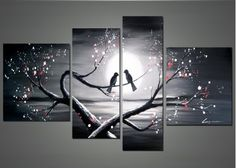 Romance Art Painting – Love Birds 1221 - 66x32in