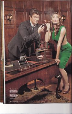 More Retro Glam from Stana & Nathan