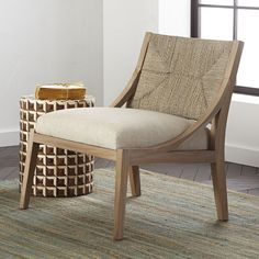 Bleached Teak Lounge Chair - NEW