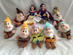Disney Snow White and The Seven Dwarfs Bean Bag Set of 10 | eBay