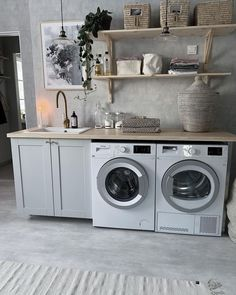 Home Improvements - Decorating Your Home is Taking Care of Your Home Laundry Room Cabinets, Laundry Room Organization, Laundry Room Design, Laundry Room Inspiration, Home Decor Inspiration, Küchen Design, House Design, Design Ideas, Interior Design Living Room Warm