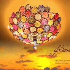 2016 Bohemian Foyer Colorful Crystal Iron Tiffany E27 Led Ceiling Light Romantic Handwork Dining Room Led Ceiling Lamp